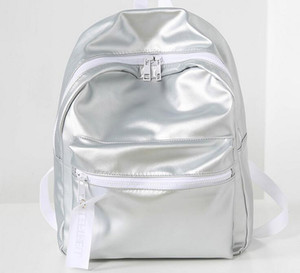 Wholesale pink ladies school bag resale online - 1 pc Fashion Autumn and Winter Sequins Student School Bags Lady PU Backpack Bags Pink Sliver Design Messenger Shoulder bags