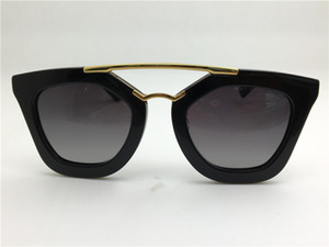 Wholesale New spr sunglasses Q cinema sunglasses coating mirror lens polarized lens vintage retro style square frame gold middle women designer