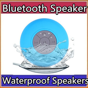 Wholesale Waterproof Wireless Bluetooth Speakers Dustproof Mini Speaker Handfree Sucker Colorful BTS HOT Good Quality Free DHL Shipping A YX