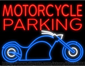 Wholesale Motorcycle Parking Neon Sign Custom Real Glass Tube Beer Bar KTV Club Pub Advertisement Motor Bike Garage Display Sign LED Sign quot X24 quot