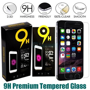 Wholesale Premium Tempered Glass Screen Protector for Iphone S s plus Samsung Galaxy S7 S5 S6 Note LG Stylo K7 Film H mm D Retail package