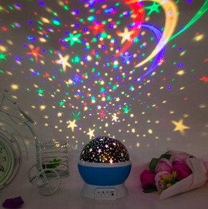 Wholesale Lighted Star Master Rotation LED Grow Night Light up Moon Star Projector Rotation Night with USB for Children Kids Bedroom Christmas Gifts