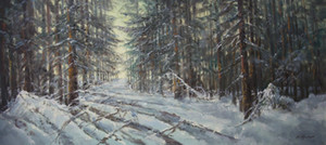 Wholesale forest impressionist painting resale online - WINTER in FOREST Painting by Mark KREMER b Pure Handpainted Russian Art oil painting High Quality Canvas size can customized