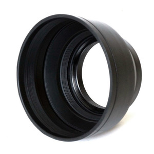 Wholesale 58mm 3-Stage Rubber Collapsible Lens Hood For Cannon, Nikon,Sony,Pentax