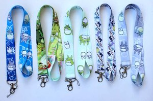 Wholesale New Mixed style Anime My Neighbor TOTORO Mix Pattern Lanyards Cell Phone PDA Key ID Strap Charms