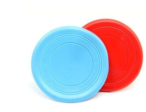 Wholesale Dog Puppy Cat Pet Training Fetch Toy Frisbee Flying Disc Silicone