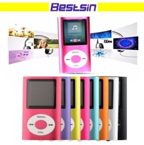 Wholesale bestsin Slim 4TH 1.8 inch LCD MP4 Player Earphone MP4 Music Player Support 2GB 4GB 8GB 16GB TF Card Slot