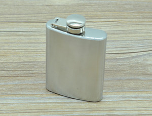 Wholesale 3 oz Stainless Steel Hip Flask Portable Outdoor Whisky Stoup Wine Pot Alcohol Bottles With Box