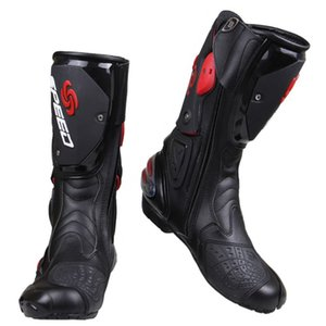 Wholesale Wholesale PRO-BIKER SPEED BIKERS Motorcycle Boots Moto Racing Motocross Off-Road Motorbike Shoes Black White Red Size 40 41 42 43 44 45