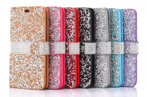 Wholesale For iPhone X Wallet Diamond Case iPhone Plus Case Bling Bling Case Crystal PU Leather Card Slot Opp Bag