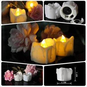 Wholesale Christmas lights cm Battery operated Flicker Flameless LED drop tear candle Light Wedding Birthday Party Christmas Decoration JF