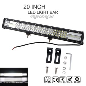 Wholesale 7D Inch W Car LED Working light Bar Triple Row Spot Flood Combo Offroad Light Driving Lamp for Truck SUV ATV X4 WD ATV CLT_42N