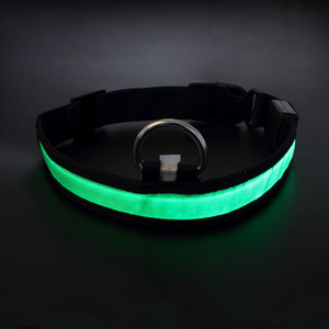 Wholesale Assorted Color Size LED Pet Dog Cat Flashing Light up Glow Safety Nylon Collar Christmas Gifts