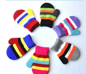 Wholesale 32pairs Baby Knitting Warm Soft Gloves Pupils Six color Package Pack Kids Boys Girls Candy Colors Mittens Unisex Children s Mittens