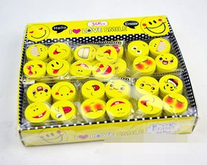 Wholesale Lovely smiling face Emoji Eraser Cute Rubber Correction Pencil Erasers Student Stationery School Supplies Kids Gift Promotion