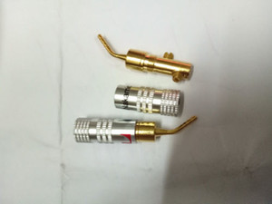 Wholesale 10pcs Audio Copper Gold Plated Speaker Cable Pin Banana Connector Plug connector