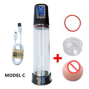Rechargeable Penis Vacuum Pump Enlarger Enlargement Sleeve Erection Enhancer
