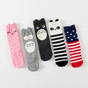 PrettyBaby Baby Knee High Cat Socks Striped Leg Warmers Girls Legging Socks Knee Pads for Baby Cotton Kids Long Socks on Sale