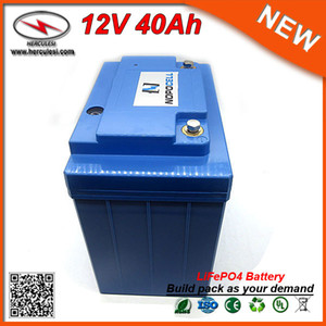 Wholesale 12v solar batteries for sale - Group buy Portable V Ah Li ion LiFePO4 Battery for Solar Power System EV HEV Car scooter UPS Street lamp and Bike