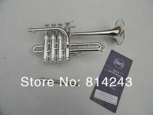Best US Bach B Piccolo Trumpet Silvering Trompeta Three Tone Trumpete Monel Piston with Durable Mouthpiece Gloves Box