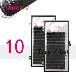 Wholesale 10 Trays All Size Natural Individual Eyelash Extension D Korean Silk Volume Eyelashes False Eye Lashes