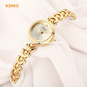 KIMIO Unique U Bracelet Strap Small Round Dial Woman Watches 2016 Brand Luxury Fashion Quartz Gold Whatch Women Wristwatch Clock