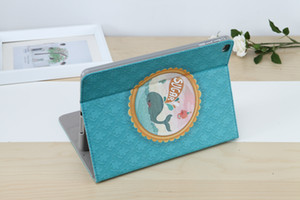 Wholesale New Fashion Cute Cartoon Dolphin Printed PU Leather Case Cover Flip Stand Smart Cover for Ipad Mini for Ipad Air Air Pro Tablet