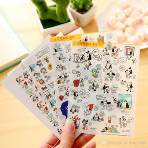 Wholesale 4sheets pack Lovely Big Ears Dog PVC Transparent Diary Stickers Photo Album Handbook Stickers Cartoon Planner Decoration Sticker