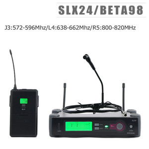 J3:572-596Mhz L4:638-662Mhz R5:800-820Mhz!! Top Quality SLX124 beta 98 Saxophone Guitar Instrument Wireless Microphone System