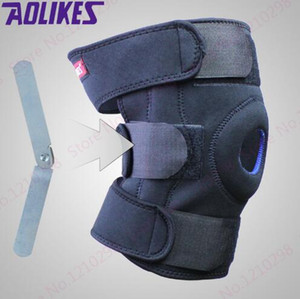 Wholesale plate supports for sale - Group buy Cheap Steel Plate Climbing Kneepad Black Rehabilitation Leg Knee Support Unisex Outdoor Kneepad Cycling Knee Brace