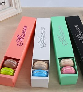 Wholesale Black pink Green White 4 color Macarons bronzing with lattice cookie pastry food packaging box,Dessert box chocolate box