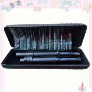 Wholesale Top Quality newest version Barcode unique sets MASCARA D FIBER LASHES Black waterproof double mascara Free DHL Shipping