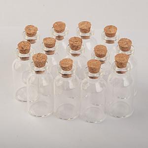 5ml Small Glass Jars With Cork Mini Empty Glass Bottles Wood Lid Glass Vial Wishing Bottles 18X40X12.5 mm 100 pcs