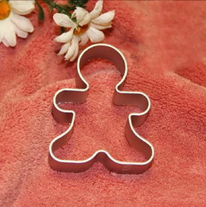 Wholesale- Best Christmas Cookie Cutter Tools Aluminium Alloy Gingerbread Men Shaped Holiday Biscuit Mold Kitchen cake Decorating Tools on Sale