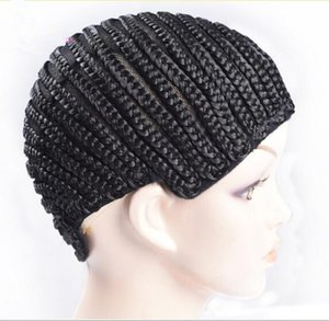 Free Shipping Cornrow Wig Caps For Making Wigs With Adjustable Strap Braided Cap For Weave Wig Rosa Hair Products Women Hairnets Easycap