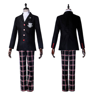 Persona 5 Protagonist Jacket Coat Top Cosplay Costume Attire Outfit Suit Uniform