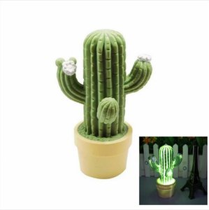 Wholesale LED Night Light Cactus Novelty Table Night Lights Children Bedsdie Lamp Cute Kids Bedroom Decoration Gift Lighting