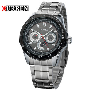 ingrosso sport whatch-CURREN Mens Orologi Top Brand Luxury Full Steel Orologio al quarzo militare Esercito Sport Orologio impermeabile Whatch relogio masculino