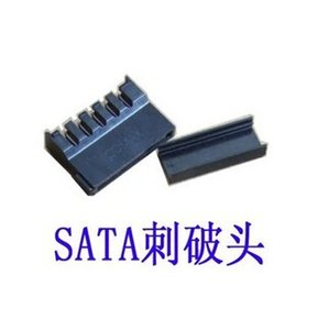 Wholesale set PC DIY HDD SSD Hard Disk Drive SATA Power Supply Lead Cable Connector Flat High Cover Shape