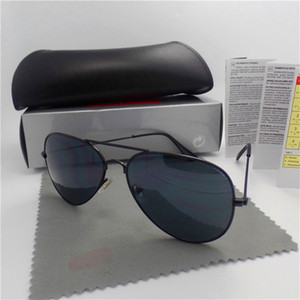 Wholesale New Brand Designer Mirror Fashion Polit Sunglasses For Men and Women UV400 protection Retro Vintage Sun glasses With box and cases