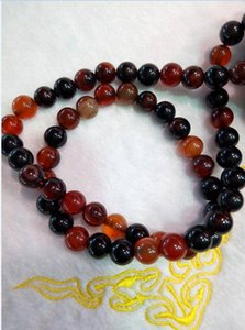 Chinese natural agate multicolor care fashion beads necklace F819 on Sale