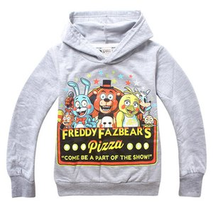 Wholesale New Five Nights At Freddy Freddys Autumn Black Sweatshirt Boys Clothes Kids Hoodies Cartoon Children Clothing 6-14T