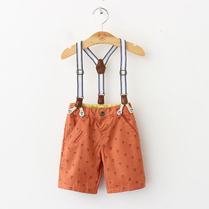 Wholesale New arrival Boys Sea anchor printed Straps shorts Boys kids 3 clip straps Shorts Brand clothing Wholesale