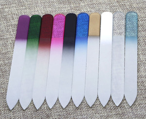 """Glass Nail Files Crystal Fingernail File Nail Care 5.5"""" 14cm 10 colors available NF014 FREE SHIPPING"""