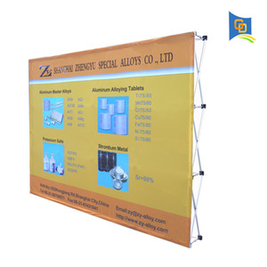 10ft Trade Show Fabric Pop up Display Banner Stand Tension Fabric Frame Exhibition Wall Stand with Graphic (without end cap)