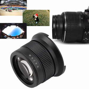 Wholesale canon lens for sale - Group buy Freeshipping NEW X58MM Camera Super HD Wide Angle Fisheye Lens With Macro for Canon EOS