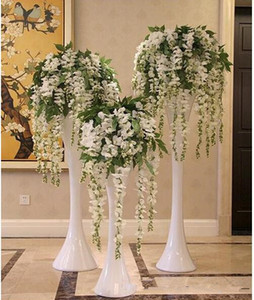 hot Sale Silk Flower Artificial Flower Wisteria Vine Rattan For Valentine's Day Home Garden Hotel Wedding Decoration on Sale