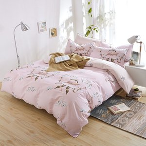 Wholesale American country style selegant triped flower bedding sets Cotton comfortable and soft Bed sheets quilt