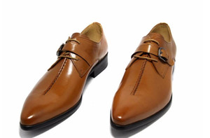 Wholesale 2017 Fashion genuine leather men shoes dress black brown wedding casual male shoes