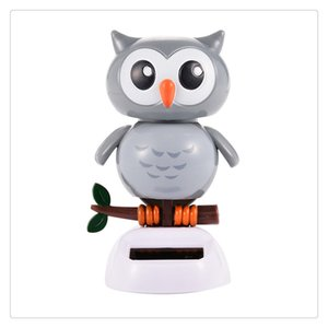 Wholesale New Solar Energy Toys Santa Deer Doll Dancing Wedding Decoration Powered Car Solar Dancing Toys Frog Owl Car Accessories Free DHL